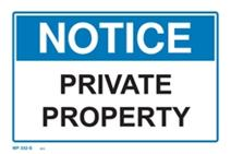 Notice - Private Property