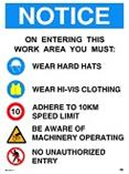 Notice - Work Area Safety Rules