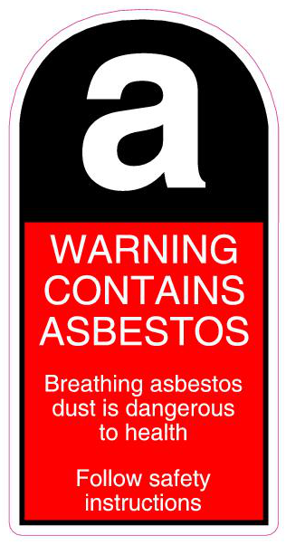 Asbestos Warning Label Segno Safety Solutions