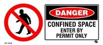 Danger - Confined Space Enter by Permit Only