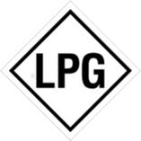 Warning label for LPG