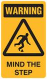 Warning - Mind the Step
