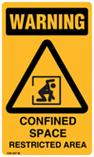 Warning - Confined Space Restricted Area