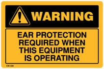 Warning - Ear Protection Required when this Equipme...