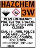 DIARY SHED HAZARDOUS CHEMICALS SIGN
